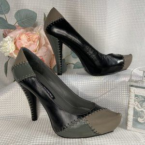 Chinese Laundry Real Leather Black Multicolor Heel